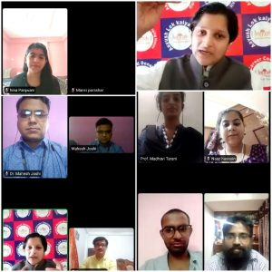 CSDP committee conducted webinar on Opportunities in Govt. Job and it's preparation.