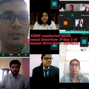 CSDP conducted mock personal interview – Day – 2 Placement Drive
