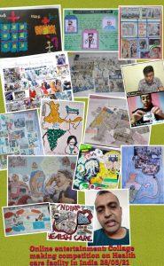 Collage making – I Yr