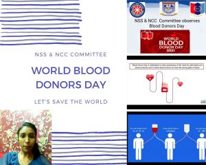 NSS & NCC Committee observed Blood Donors Day
