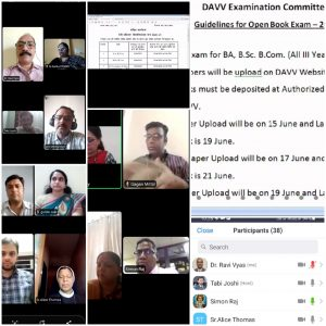 Session on DAVV Open Book Exam System was conducted by University Exam Committee on 7th June 2021