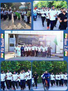NCC Comittee conducted Aazadi ka Amrit Mahotsav Fit India Run 2.O
